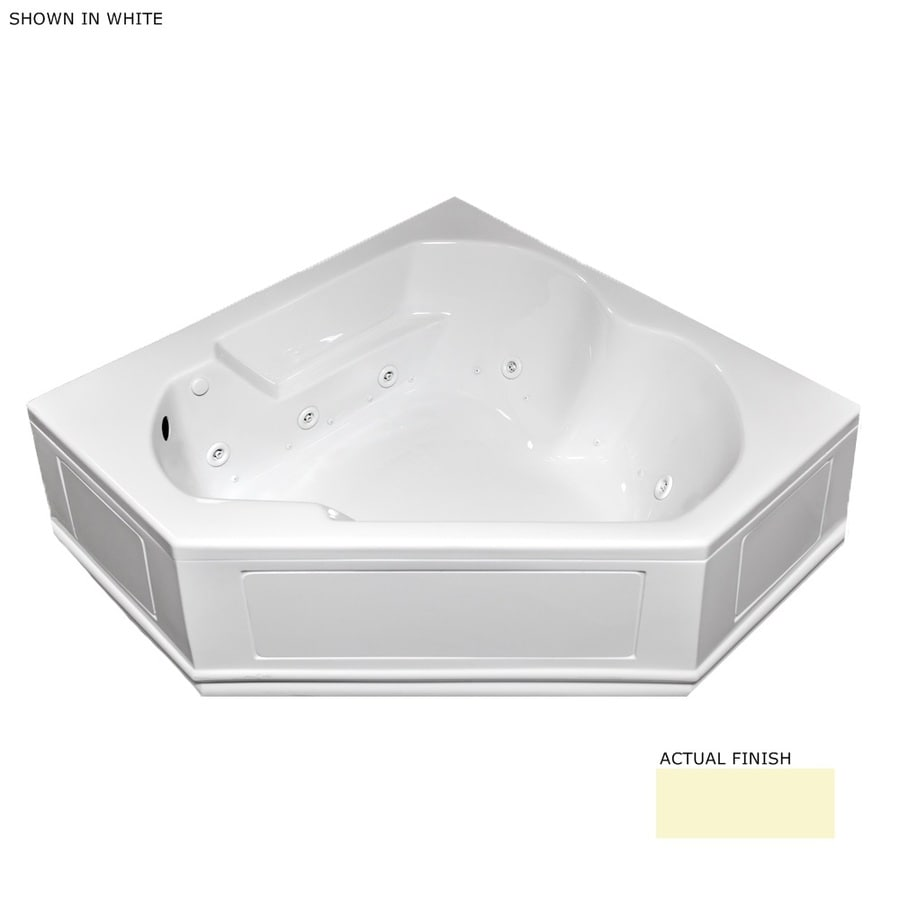 Laurel Mountain Dual Corner Plus Skirted 60-in L x 60-in W x 20-in H 2-Person Linen Acrylic Corner Whirlpool Tub and Air Bath