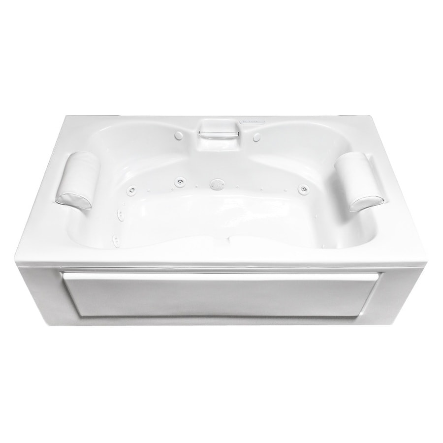 Laurel Mountain Seneca Skirted 60-in L x 42-in W x 23-in H 2-Person White Acrylic Rectangular Whirlpool Tub and Air Bath