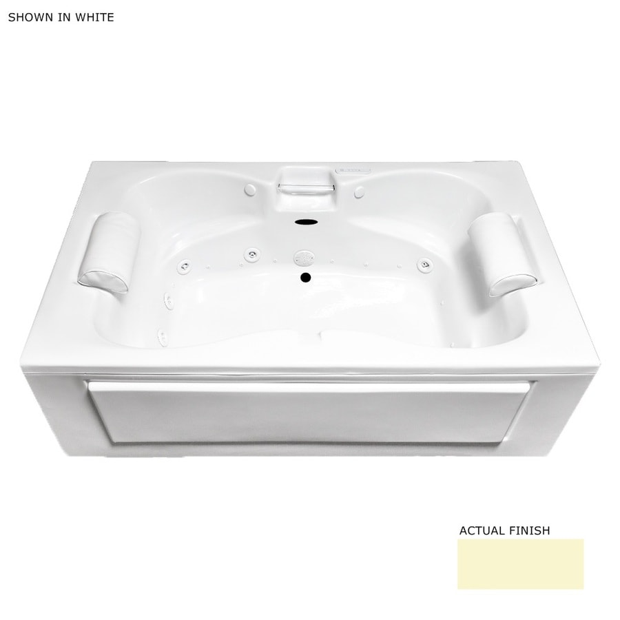 Laurel Mountain Seneca Skirted 60-in L x 42-in W x 23-in H 2-Person Linen Acrylic Rectangular Whirlpool Tub and Air Bath