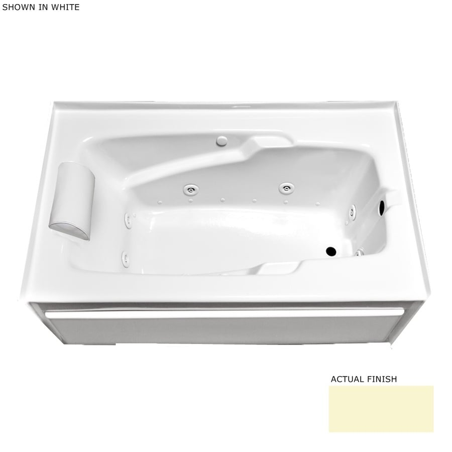 Laurel Mountain Mercer VII Skirted 66-in L x 36-in W x 21-in H 1-Person Linen Acrylic Rectangular Whirlpool Tub and Air Bath