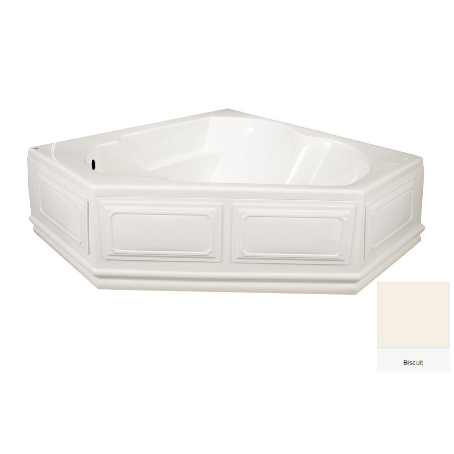 Laurel Mountain Dual Corner Plus Skirted 59.625-in Biscuit Acrylic Skirted Bathtub with Left-Hand Drain