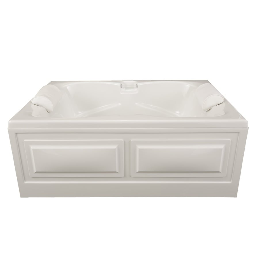 Laurel Mountain Seneca IV 60-in White Acrylic Skirted Bathtub with Front Center Drain