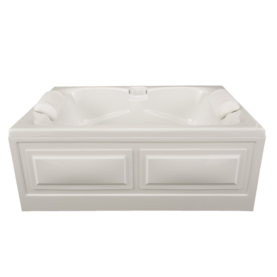 Laurel Mountain Seneca I White Acrylic Rectangular Skirted Bathtub with Center Drain (Common: 42-in x 60-in; Actual: 23-in x 42-in x 60-in
