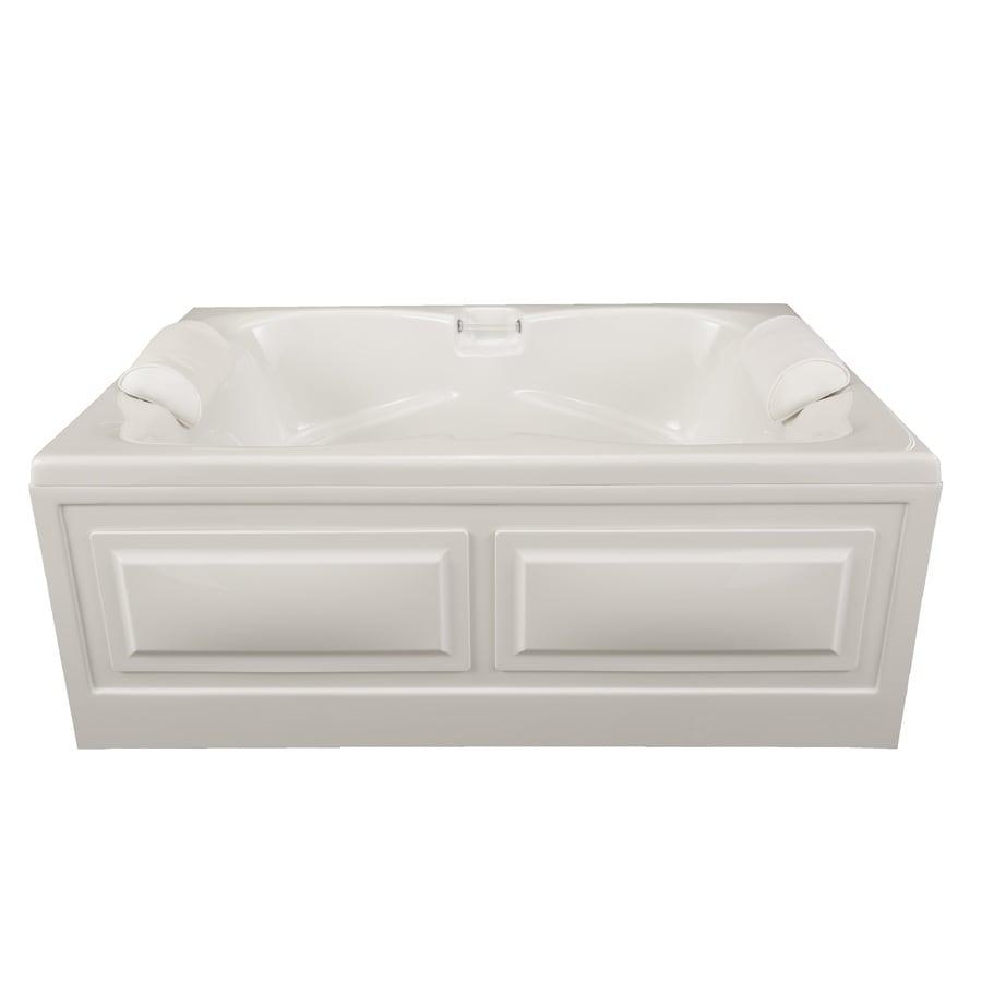 Laurel Mountain Seneca I 60-in White Acrylic Alcove Bathtub with Center Drain