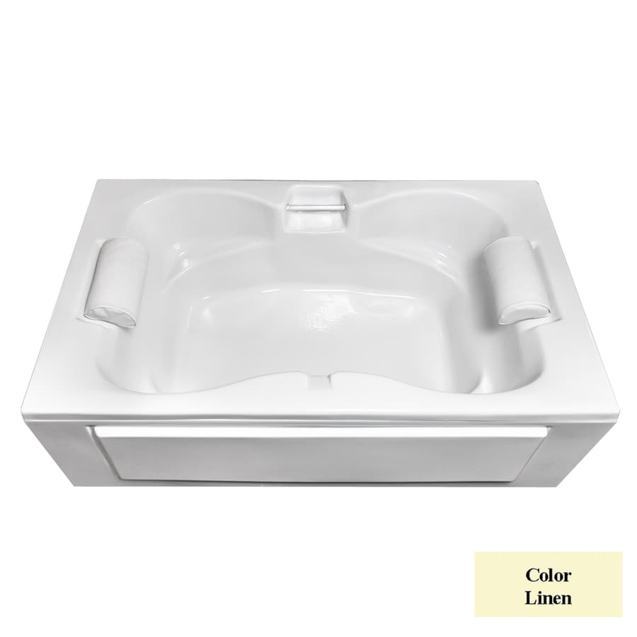Laurel Mountain Seneca I Linen Acrylic Rectangular Skirted Bathtub with Center Drain (Common: 42-in x 60-in; Actual: 23-in x 42-in x 60-in