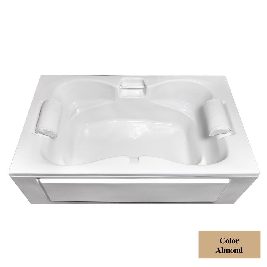 Laurel Mountain Seneca I 60-in Almond Acrylic Alcove Bathtub with Center Drain