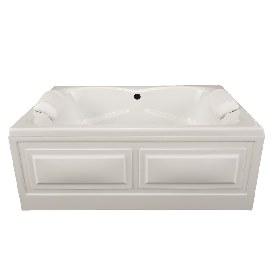 Laurel Mountain Seneca IV 60-in White Acrylic Skirted Bathtub with Back Center Drain
