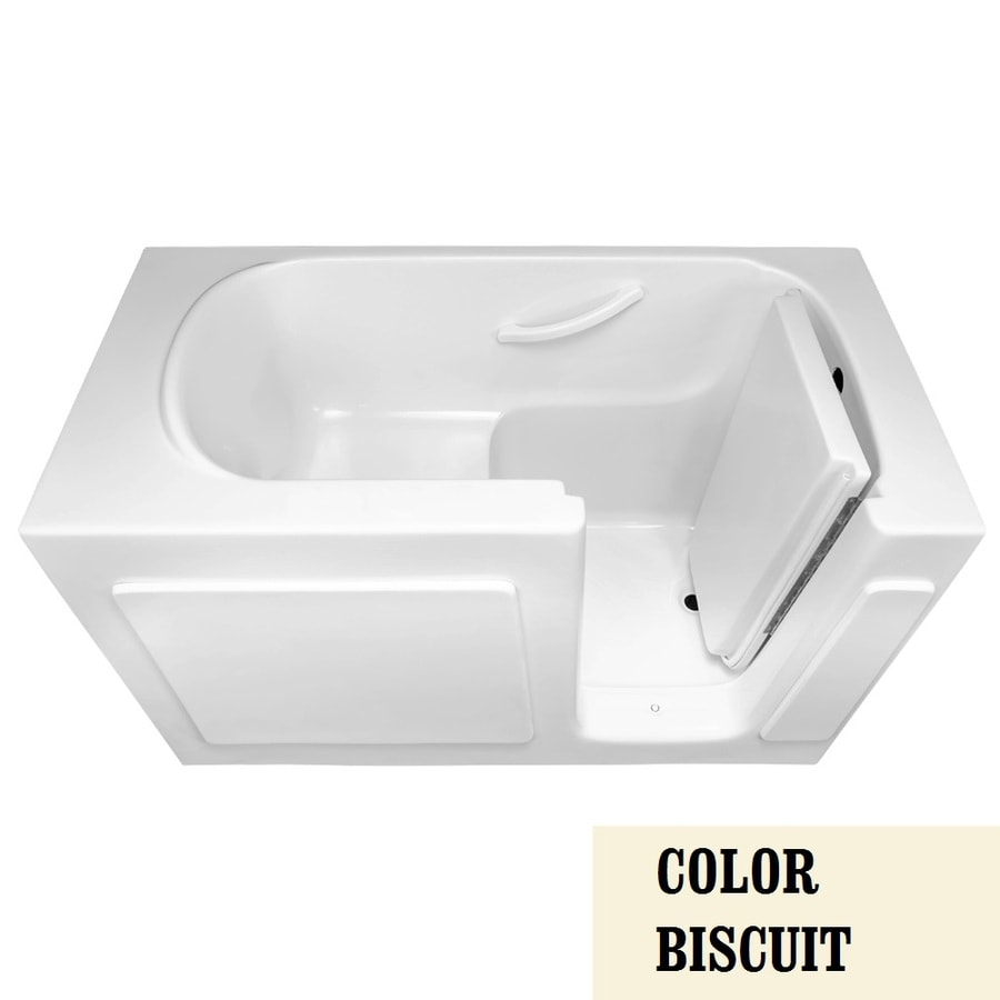 Laurel Mountain Westmont Alcove or Corner 60-in Biscuit Acrylic Walk-In Bathtub with Right-Hand Drain