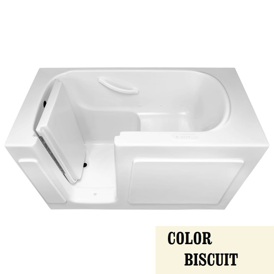 Laurel Mountain Alcove or Corner Westmont 54-in L x 30-in W x 38-in H Biscuit Gelcoat/Fiberglass 1-Person-Person Rectangular Walk-in Air Bath
