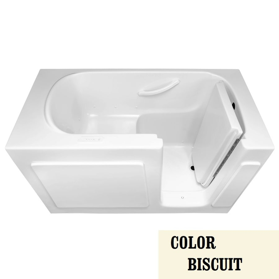 Laurel Mountain Alcove or Corner Westmont 60-in L x 30-in W x 38-in H Biscuit Gelcoat/Fiberglass 1-Person-Person Rectangular Walk-in Air Bath