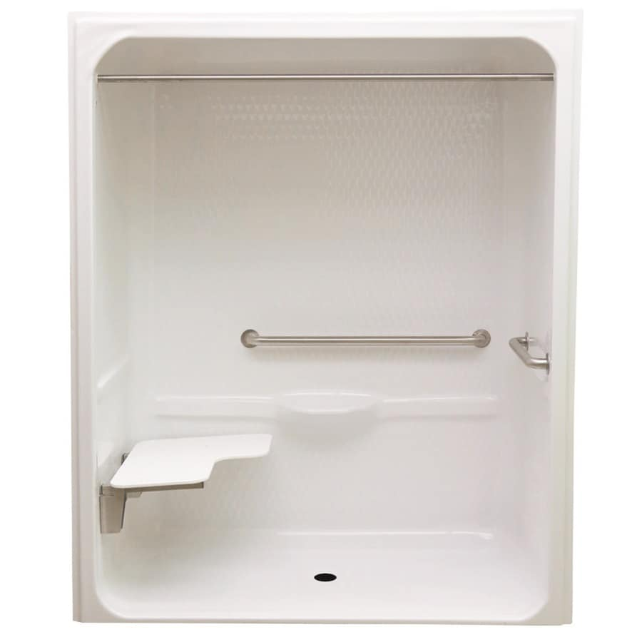 Laurel Mountain Toone Low Zero Threshold - Barrier Free White Acrylic One-Piece Shower (Common: 32-in x 60-in; Actual: 82.875-in x 30.25-in x 64.5-in)
