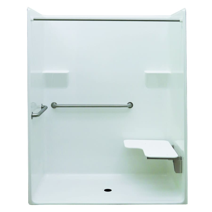 Acrylic One Piece Tub Shower. Laurel Mountain Whitwell Low Zero Threshold  Barrier Free White Acrylic One Piece Shower Shop