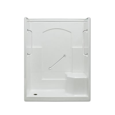 Ramer Low Threshold White 4 Piece Alcove Shower Kit Common 60 In X 32 Actual