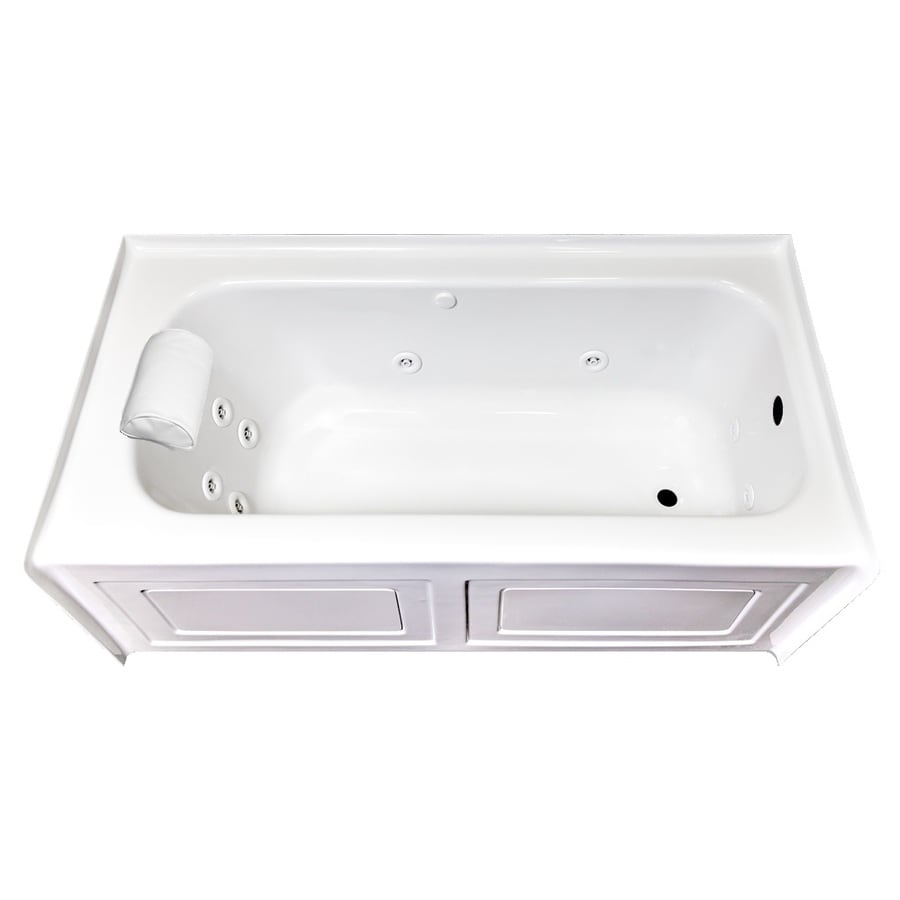Laurel Mountain Fairhaven VI White Acrylic Rectangular Whirlpool Tub  (Common: 36-in x