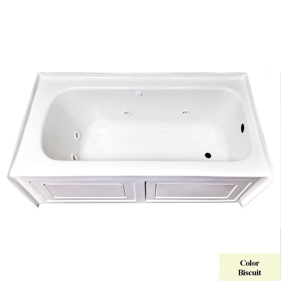 Laurel Mountain Fairhaven VI Biscuit Acrylic Rectangular Whirlpool Tub (Common: 36-in x 72-in; Actual: 22.5-in x 36-in x 72-in)