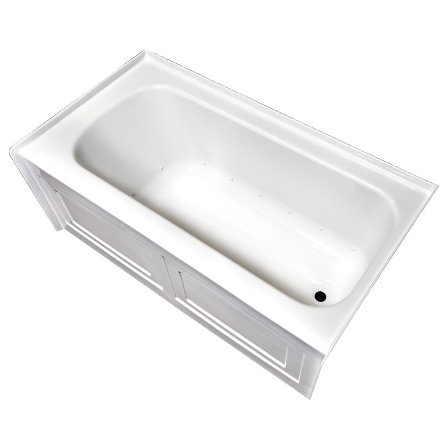 Laurel Mountain Fairhaven VI 72-in L x 36-in W x 22.5-in H White Acrylic Rectangular Skirted Air Bath