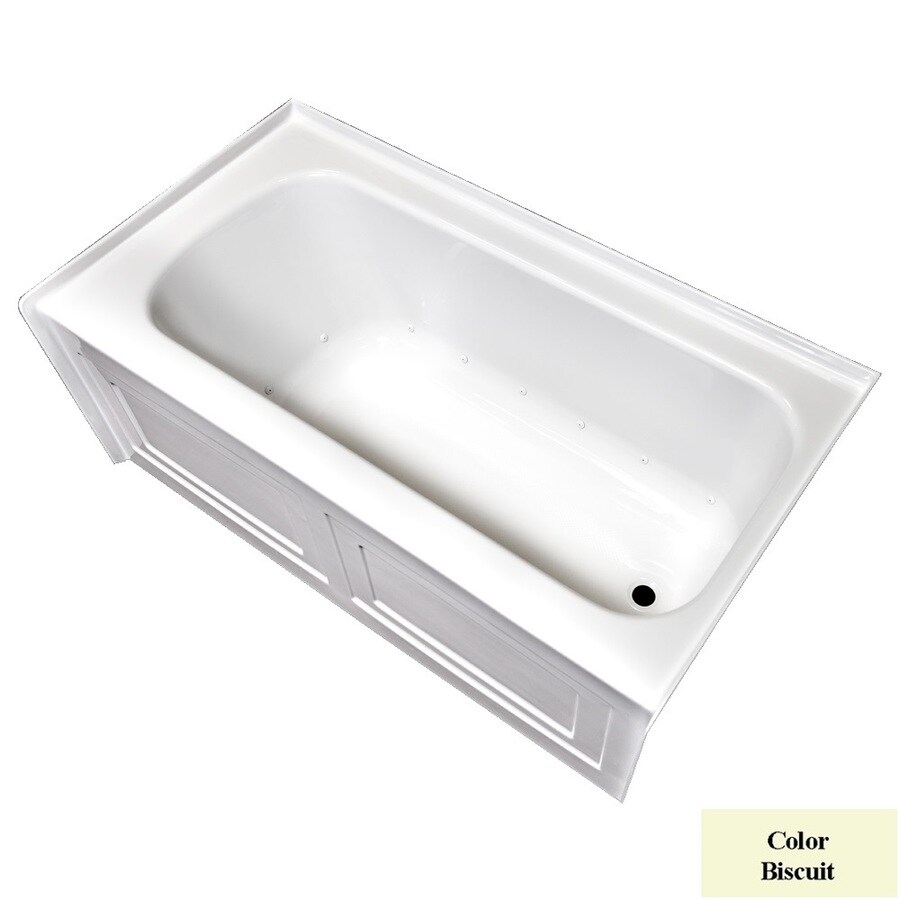 Laurel Mountain Fairhaven VI 72-in L x 36-in W x 22.5-in H Biscuit Acrylic Rectangular Skirted Air Bath