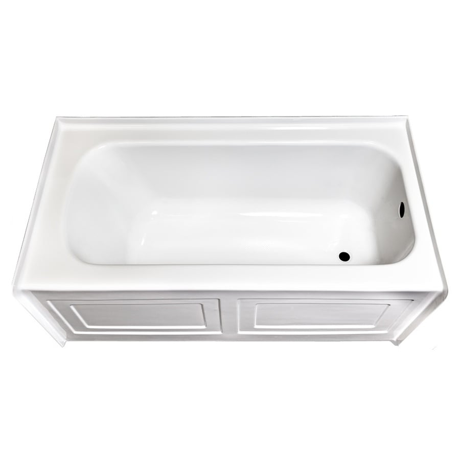 Laurel Mountain Fairhaven Vi White Acrylic Rectangular Skirted Bathtub with Right-Hand Drain (Common: 36-in x 72-in; Actual: 22.5-in x 36-in x 72-in