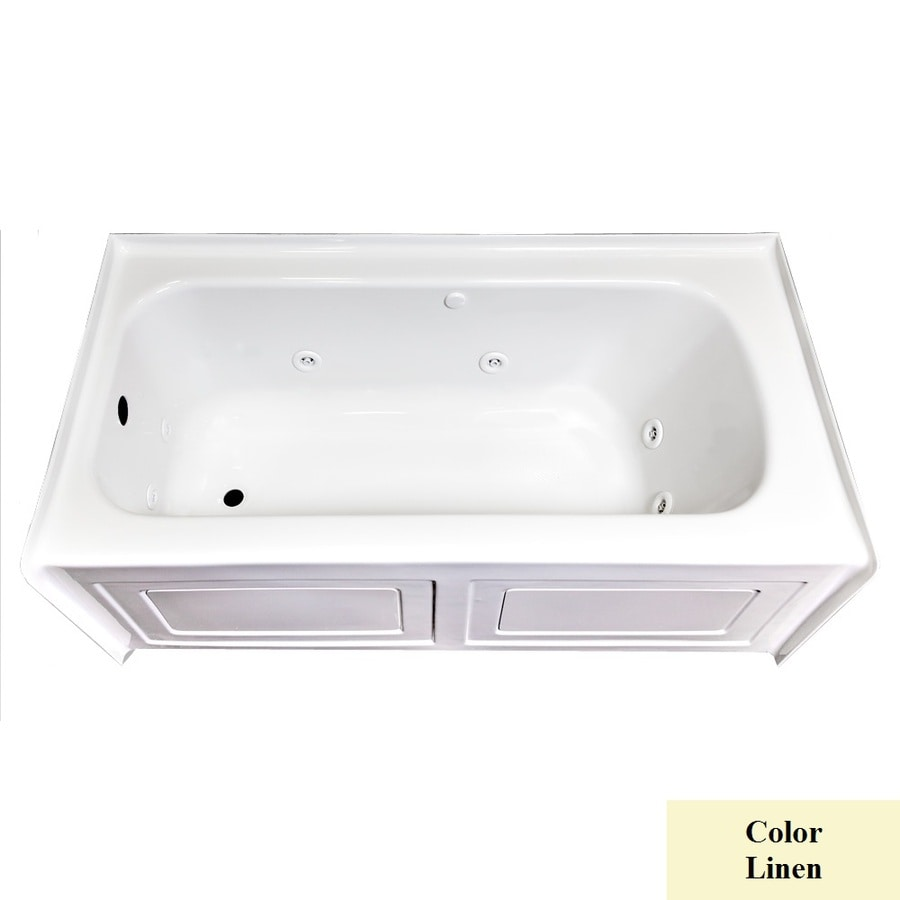 Laurel Mountain Fairhaven VI Linen Acrylic Rectangular Whirlpool Tub (Common: 36-in x 72-in; Actual: 22.5-in x 36-in x 72-in)
