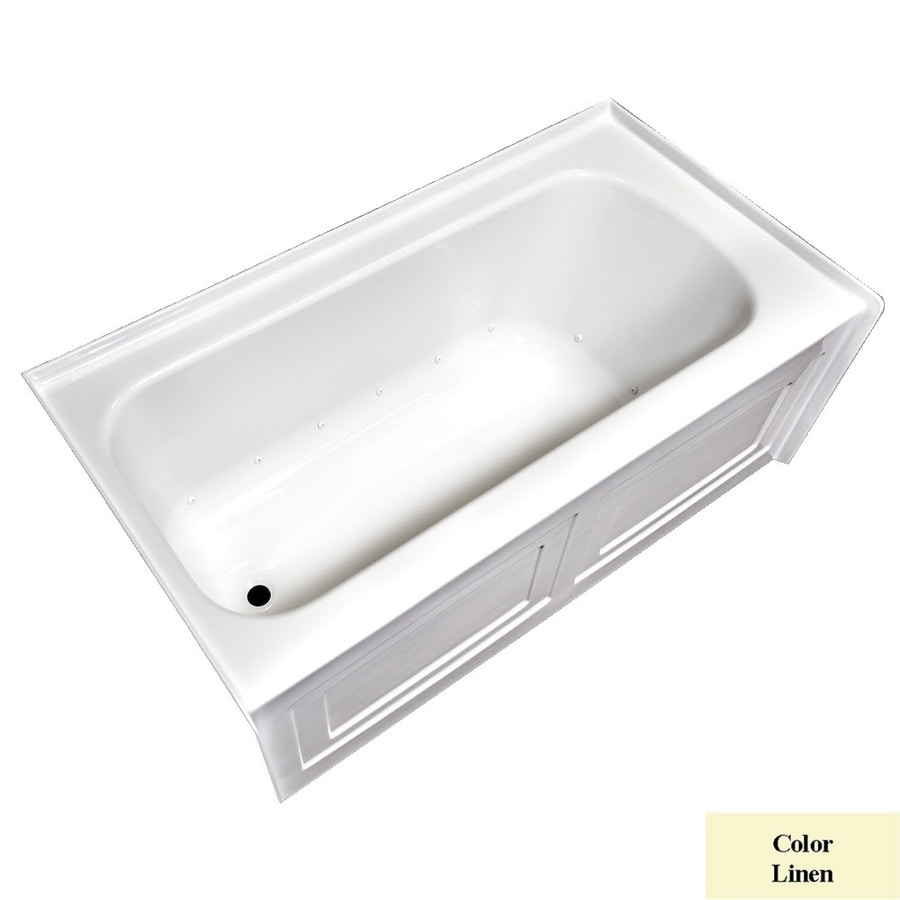 Laurel Mountain Fairhaven VI 72-in L x 36-in W x 22.5-in H Linen Acrylic Rectangular Skirted Air Bath