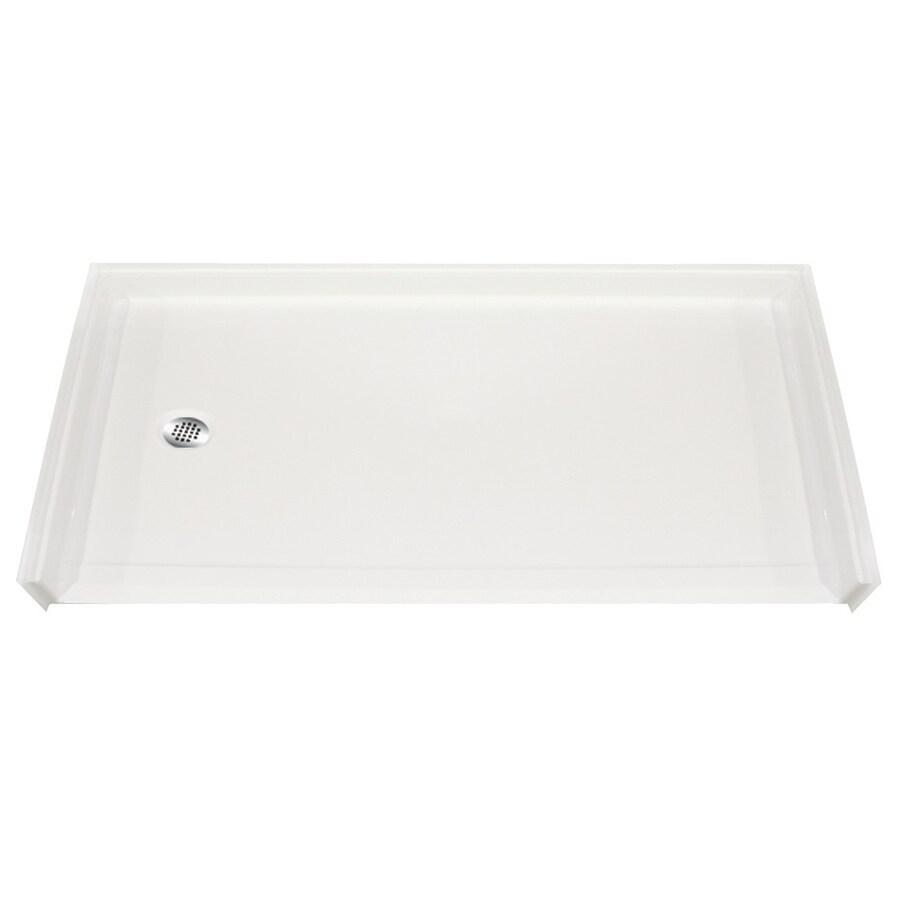 Laurel Mountain Colony White Gelcoat/Fiberglass Shower Base (Common: 30-in W x 60-in L; Actual: 31-in W x 60-in L)