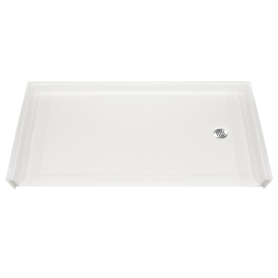 Laurel Mountain Colony White Gelcoat/Fiberglass Shower Base (Common: 30-in W x 60-in L; Actual: 31-in W x 60-in L)