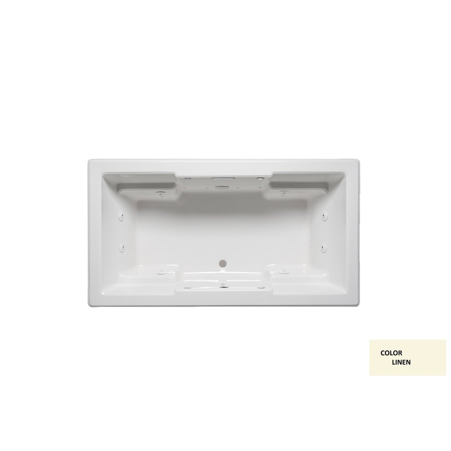 Laurel Mountain Reading Iii 72-in L x 36-in W x 22-in H 2-Person Linen Acrylic Rectangular Whirlpool Tub and Air Bath