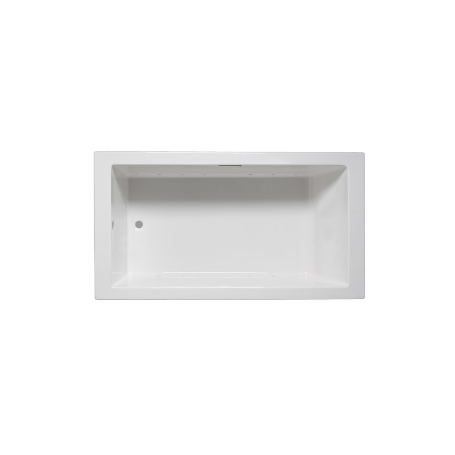 Laurel Mountain Parker VIII 72-in White Acrylic Drop-In Whirlpool Tub with Reversible Drain