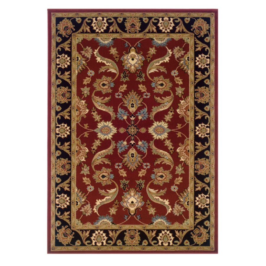 L.R. Resources Adana Red Rectangular Indoor Woven Area Rug