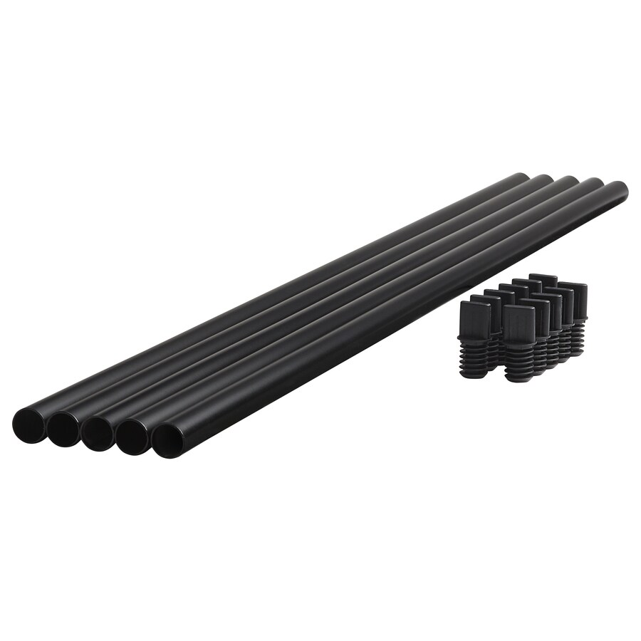 Fiberon (Common: 2-in X 2-in X 36-in; Actual: 0.75-in x 0.75-in x 35.5-in) Horizon Black Metal Deck Baluster