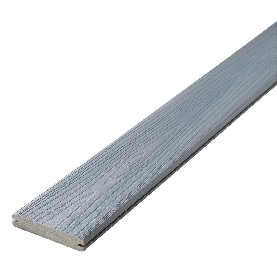 Shop fiberon horizon 20 ft castle gray grooved composite for Horizon composite decking