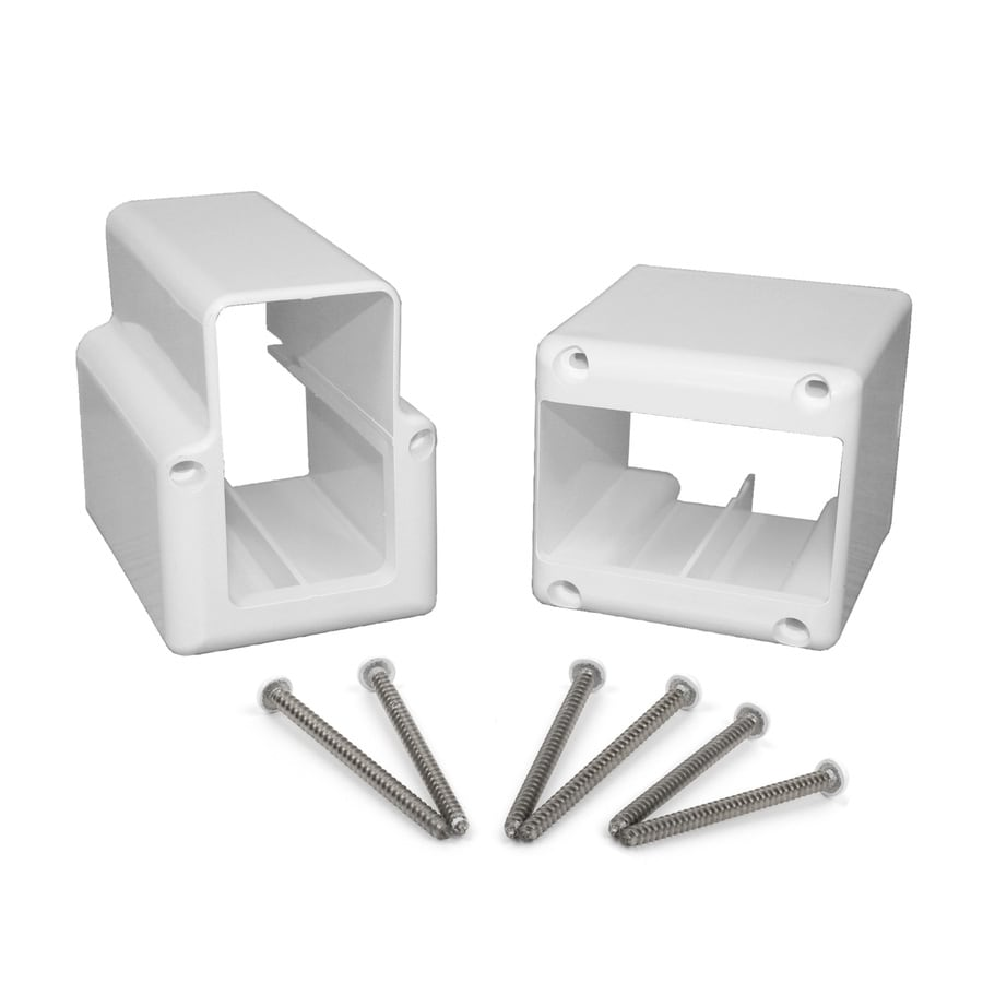 Fiberon Traditional White Pvc Stair Connector At Lowes Com