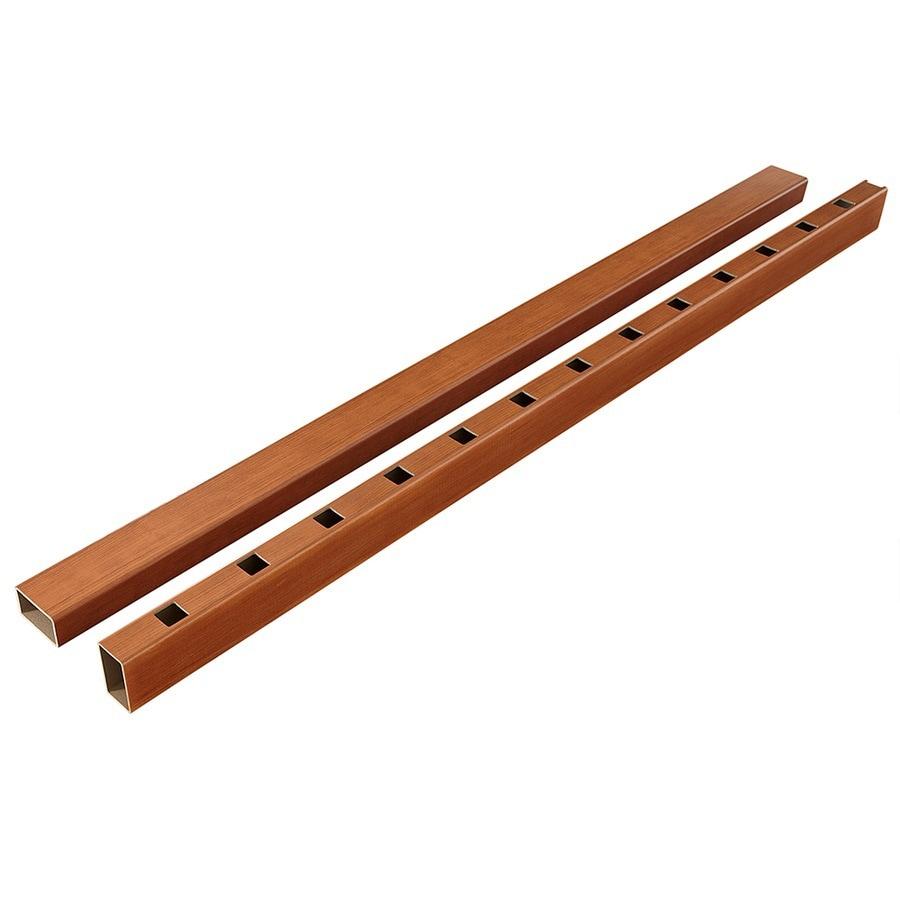 Fiberon HomeSelect 2-Pack Redwood Composite Deck Handrails Common: 6-ft; Actual: 3.5-in x 4-in x 6-ft)