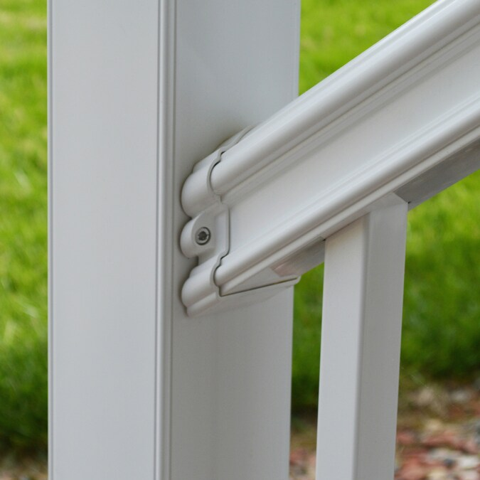 Fiberon Classic White PVC Stair Connector in the Deck ...