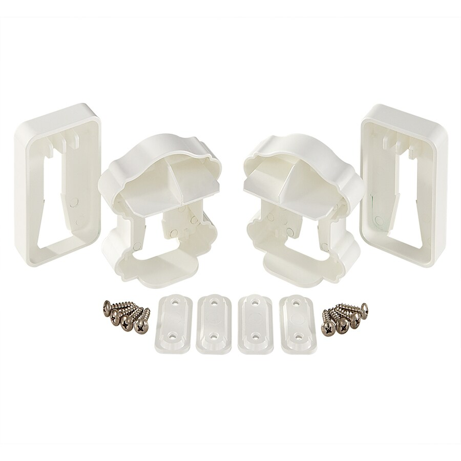 Fiberon 2-Pair White Classic Rail Bracket