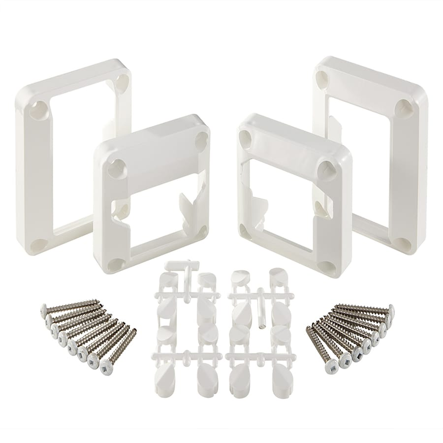 Fiberon 2-Pair White Sentry Stair Bracket