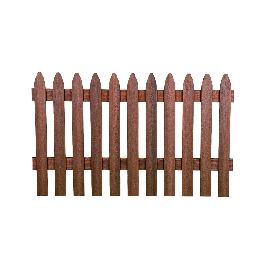 Fiberon (Common: 3.25-ft x 5.64-ft; Actual: 3.25-ft x 5.64-ft) Woodshades Rustic Redwood Composite Semi-privacy Composite Fence Panel