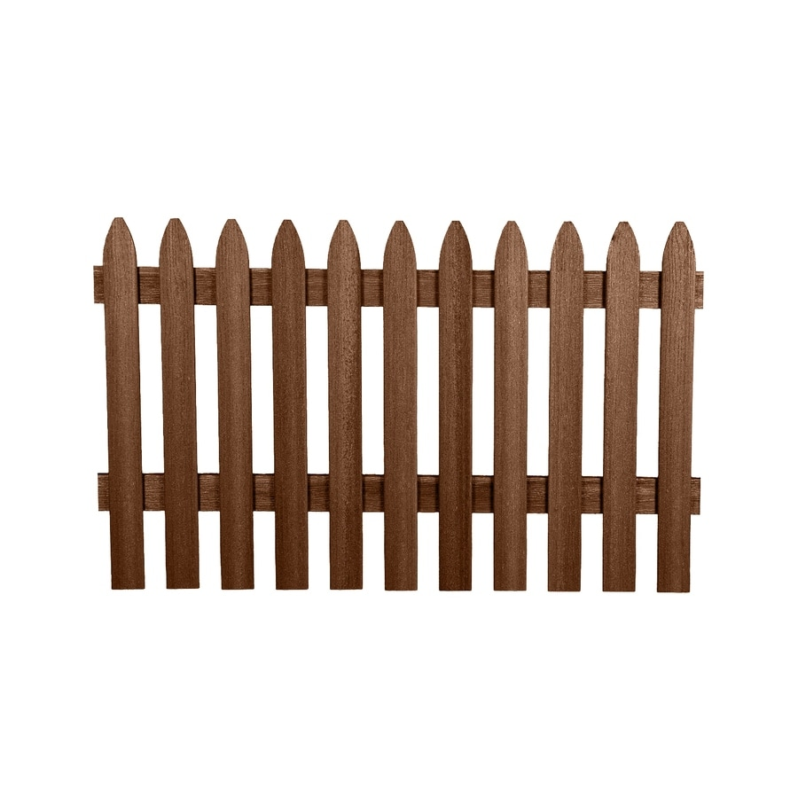 Fiberon Woodshades Rustic Cedar Composite Semi-Privacy Fence Panel (Common: 3.25-ft x 5.64-ft; Actual: 3.25-ft x 5.64-ft)