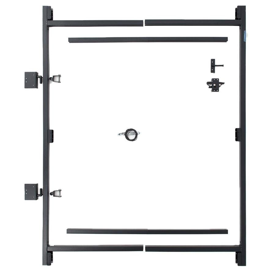 Fiberon (Common: 5-ft x 4-ft; Actual: 5-ft x 3.67-ft) Woodshades Black Steel Composite Fence Gate Kit