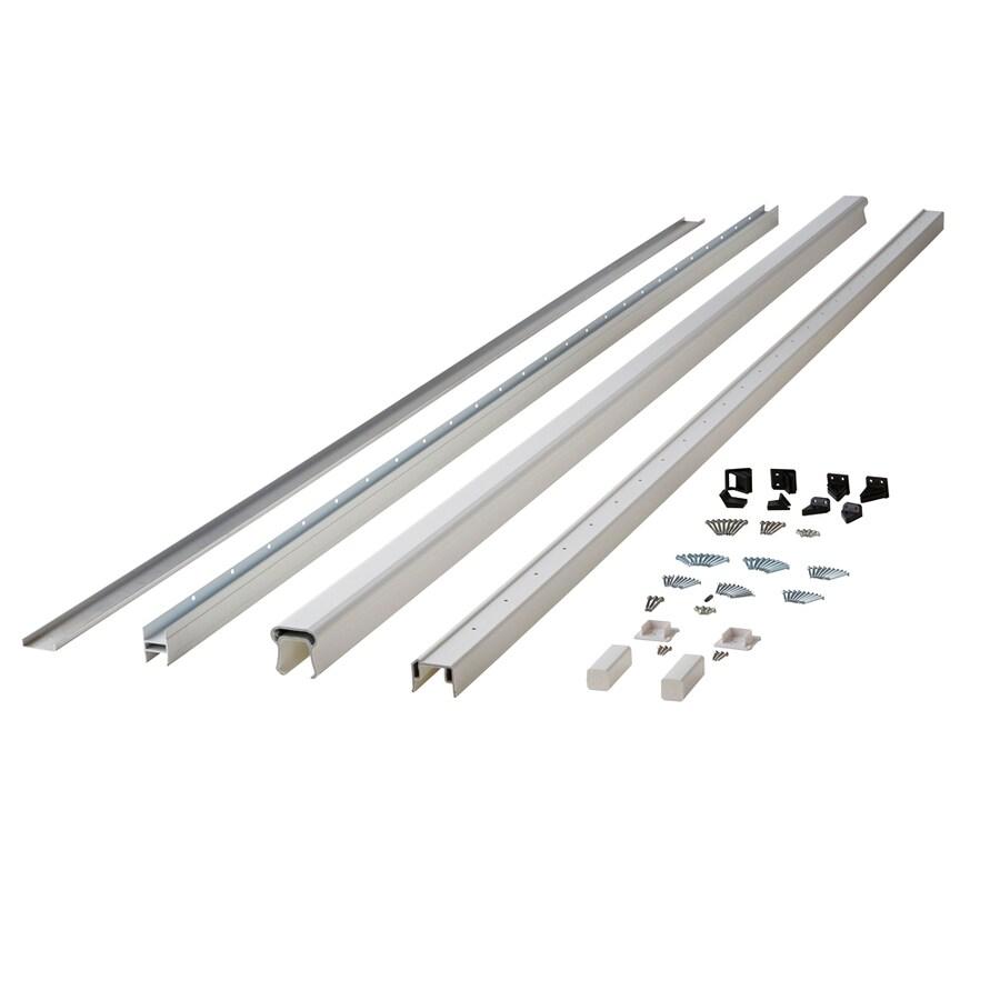 Fiberon (Assembled: 10-ft x 3-ft) Symmetry Tranquil White Composite Deck Railing Kit