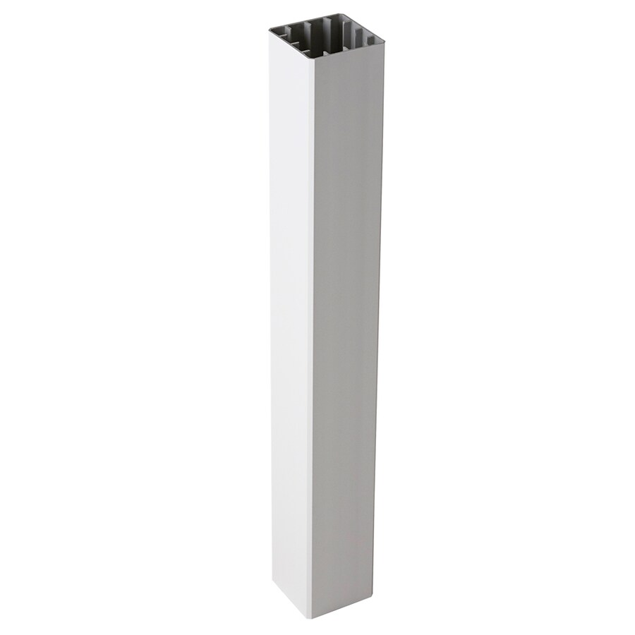 Fiberon (Fits Common Post Measurement: 5-in x 5-in; Actual: 5.1-in x 5.1-in x 39-in) Symmetry Tranquil White Composite (Not Wood) Deck Post Sleeve