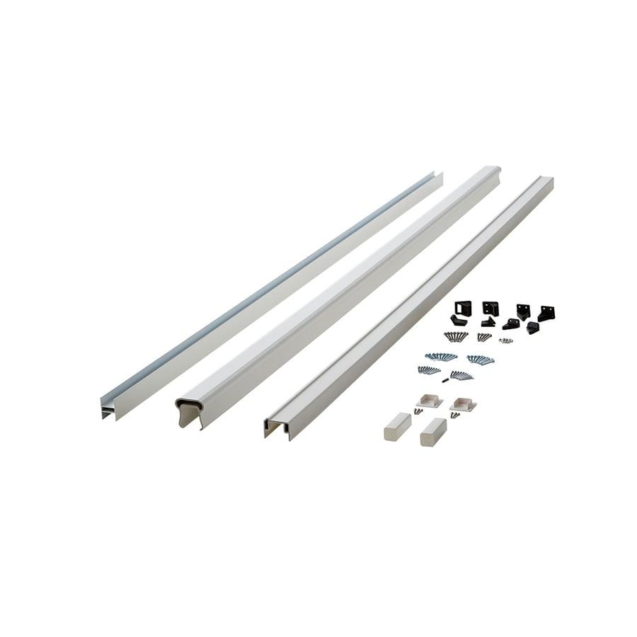 Fiberon (Assembled: 8-ft x 3-ft) Symmetry Tranquil White Composite (Not Wood) Deck Railing Kit