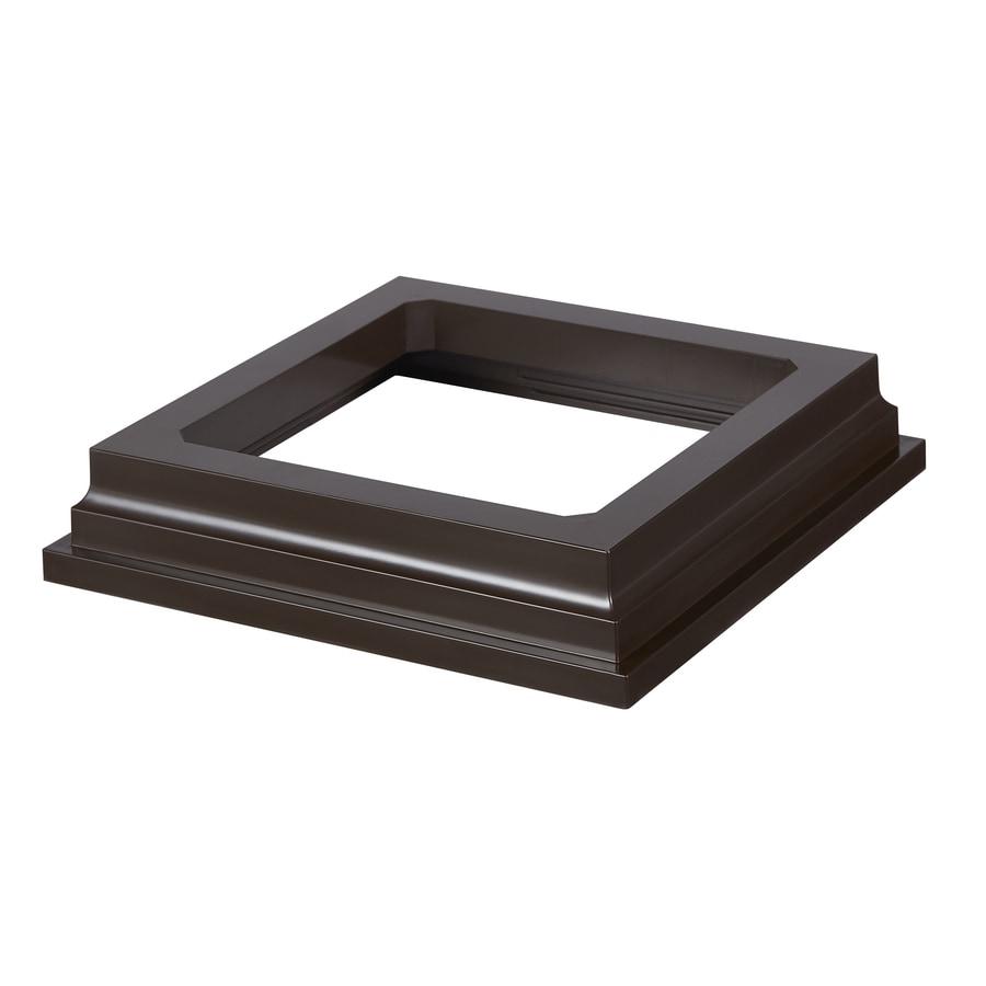 Fiberon Symmetry Simply Brown PVC Deck Post Base Trim