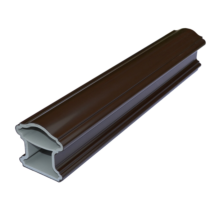 Fiberon HomeSelect 2-Pack Chestnut Brown Composite Deck Handrails Common: 6-ft; Actual: 4-in x 6-in x 6-ft)