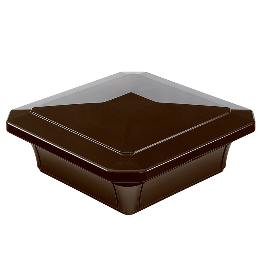 Fiberon (Fits Common Post Measurement: 4-in x 4-in; Actual: 6-in x 6-in x 2.4-in) Homeselect Chestnut Brown PVC (Not Wood) Deck Post Cap