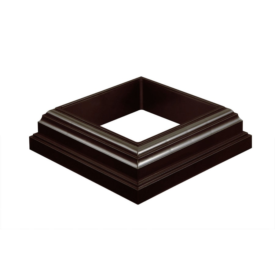 Fiberon Homeselect Chestnut Brown PVC Deck Post Base Trim
