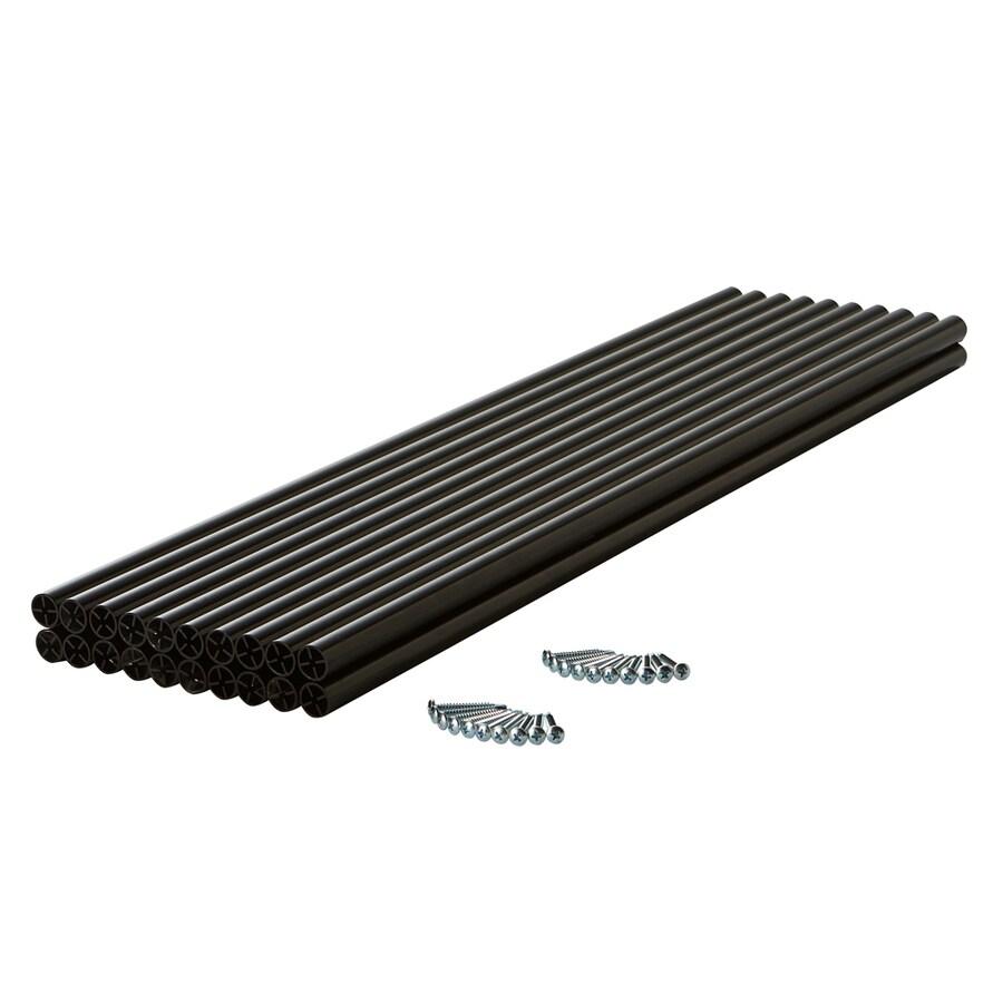 Fiberon (Common: 1-in x 1-in x 36-in; Actual: 0.75-in x 0.75-in x 35.5-in) Symmetry Black Aluminum (Not Wood) Deck Baluster