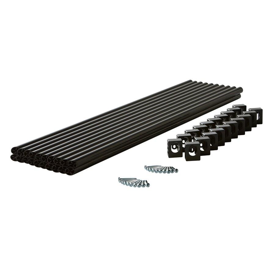 Fiberon (Common: 1-in X 1-in X 36-in; Actual: 0.75-in x 0.75-in x 36-in) Symmetry Black Aluminum Deck Baluster
