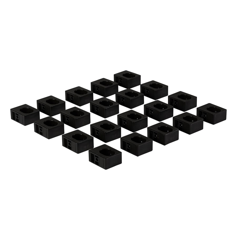 Fiberon Symmetry Black Round Stair Baluster Adaptors 20 Pack
