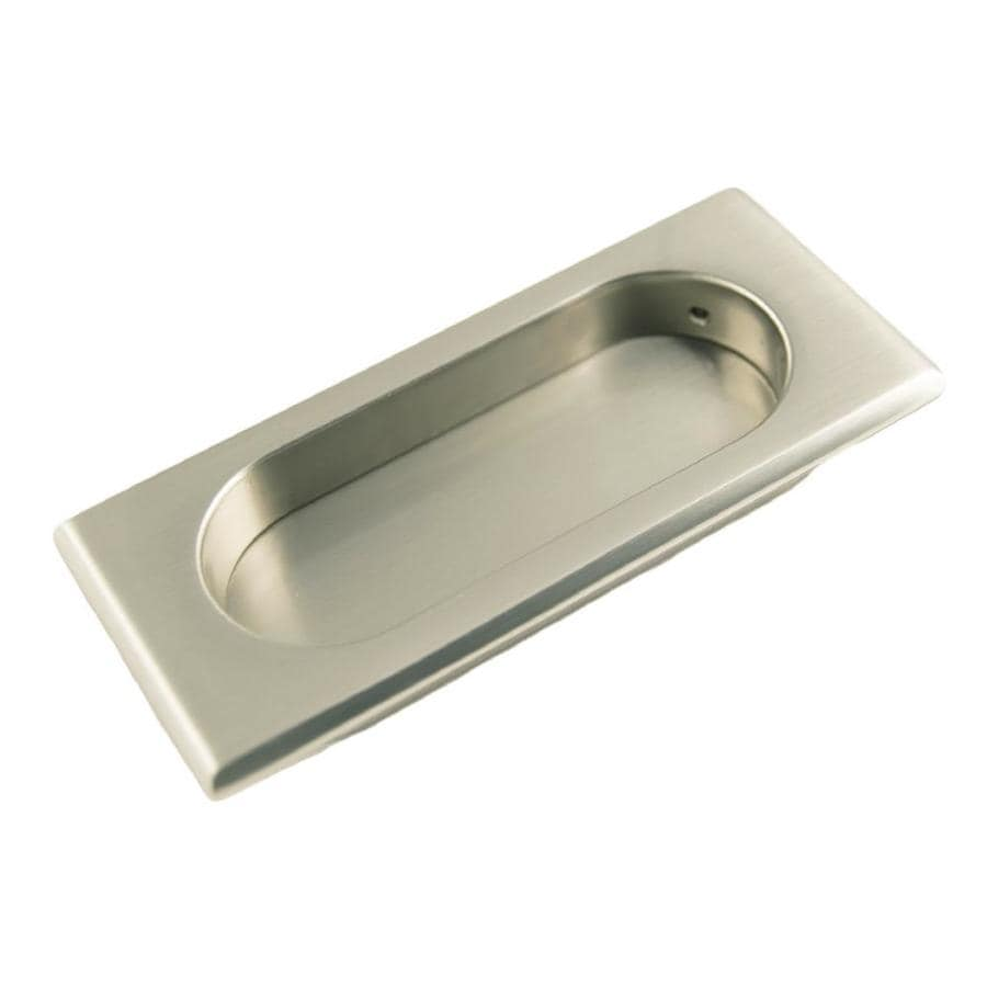 RK International 82mm Center-to-Center Satin Nickel Rectangular Cabinet Pull